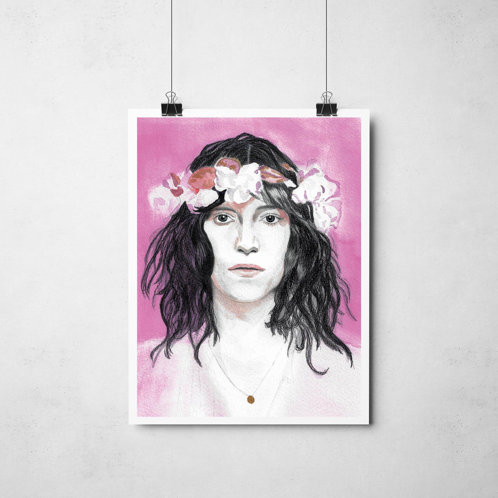Lámina Ilustrada Patti Smith - Roció Mera