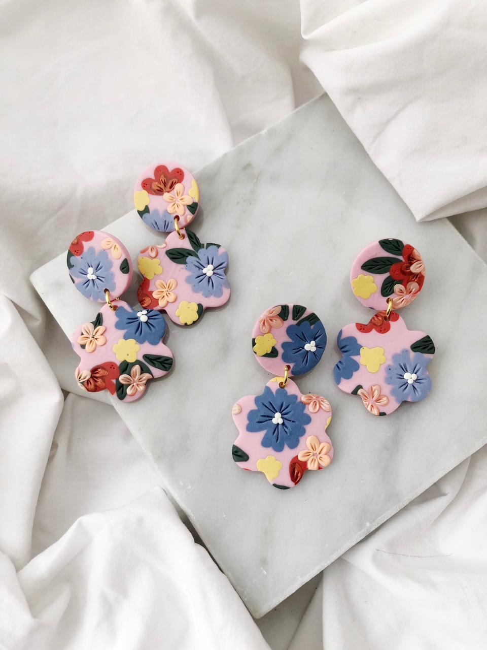 Aros Flores Rosa