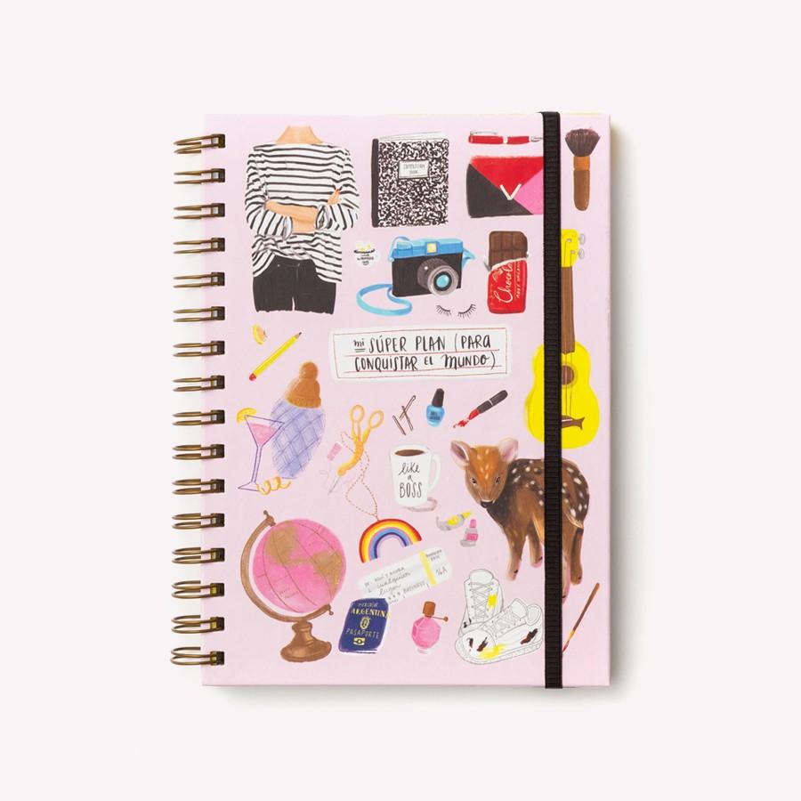 Planificador rosa moda