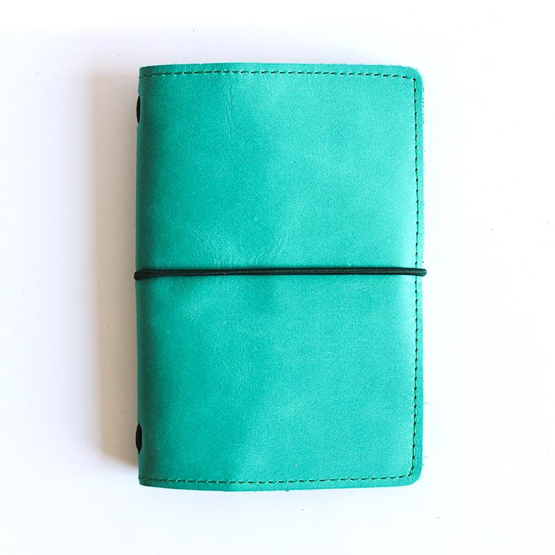 Libreta Pocket cuero Verde