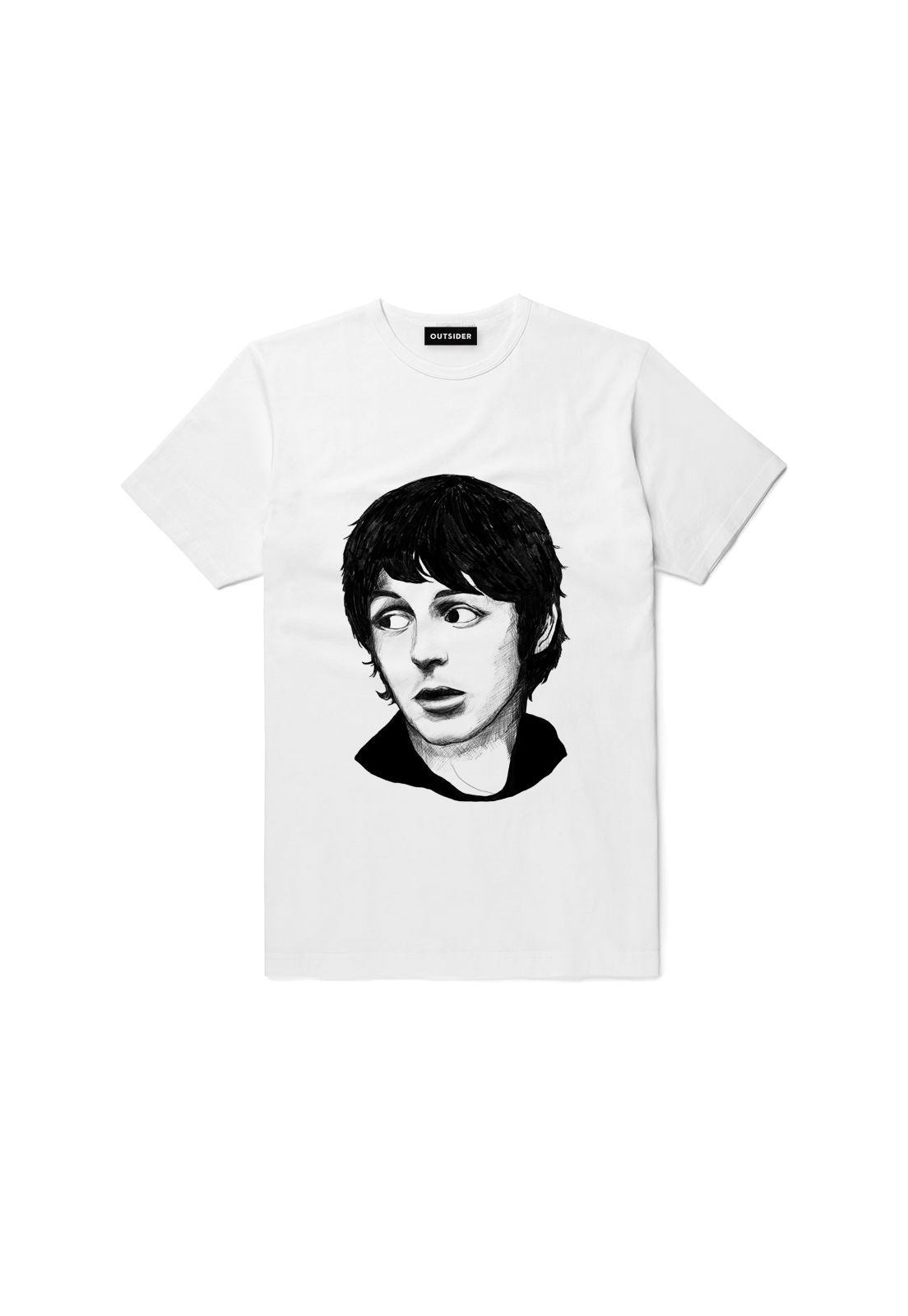 Polera  Paul Mccartney Blanca - THE OUTSIDER
