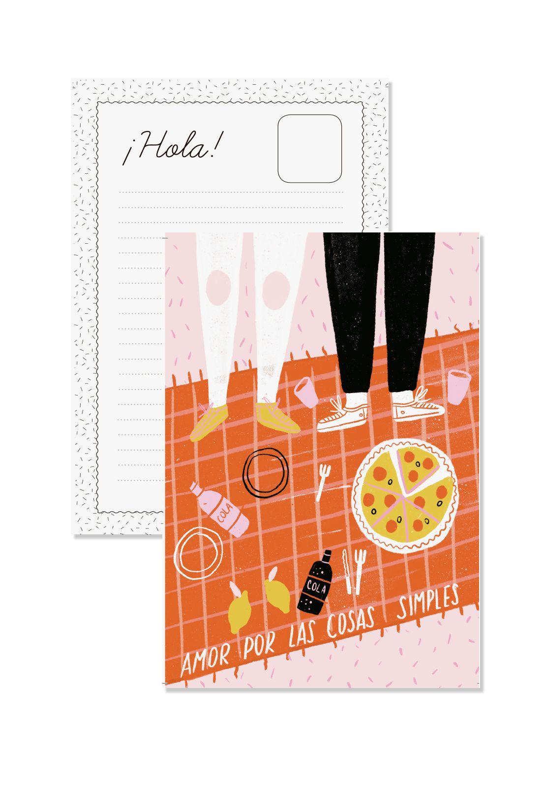 Postal Amor por las cosas simples