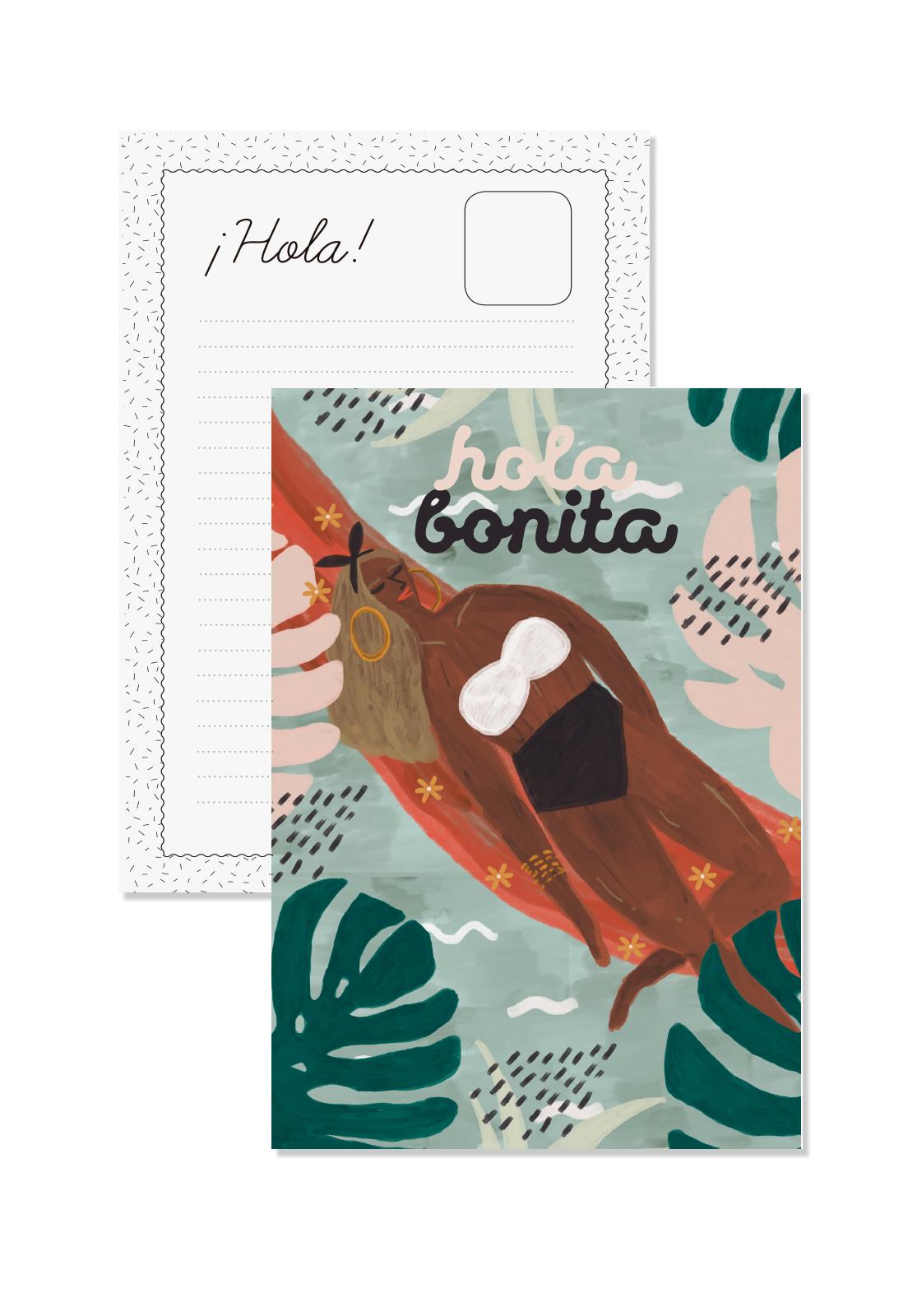 Postal Hola Bonita
