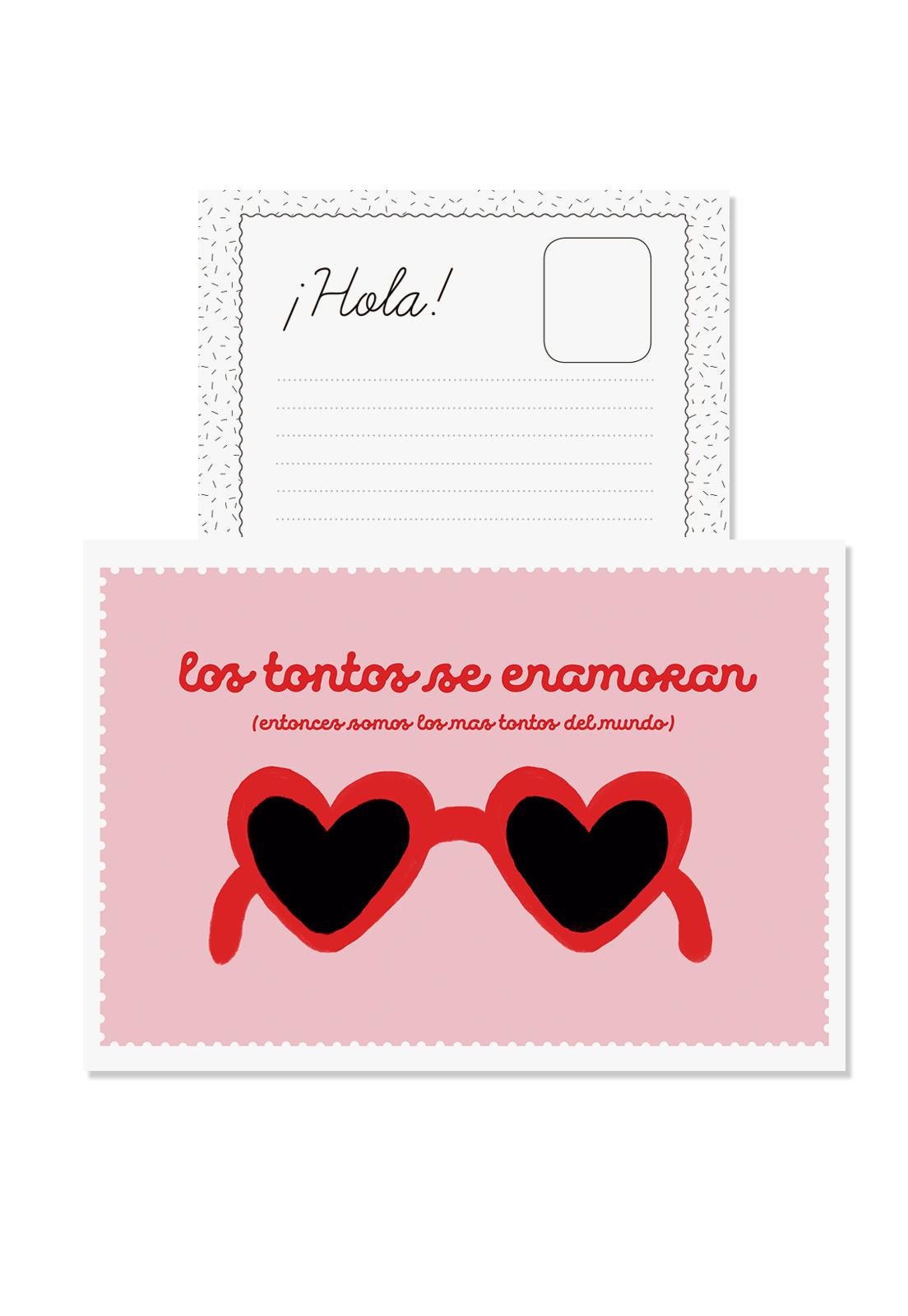 Postal Los Tontos Se Enamoran
