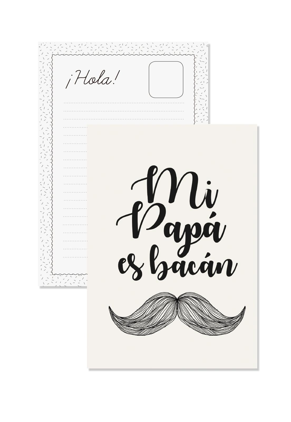 Postal Mi Papa es Bacán