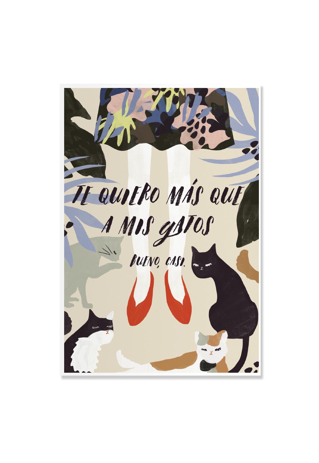 Poster Te quiero Gatos!