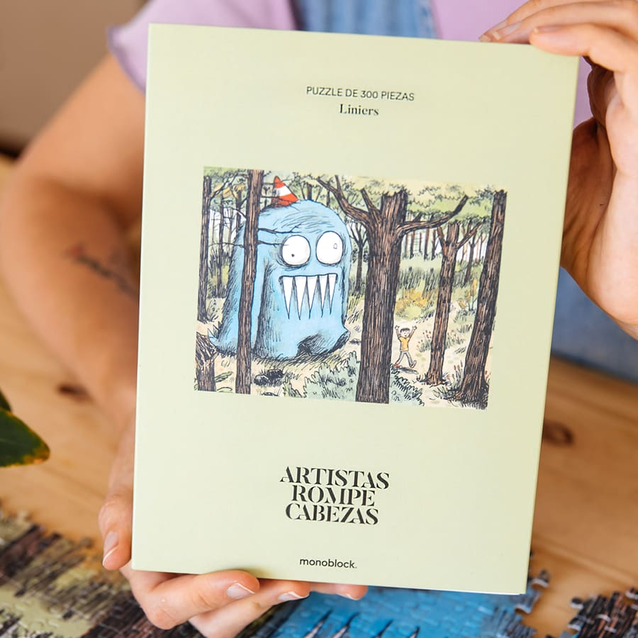 Puzzle Artistas Rompecabezas - Olga en el Bosque por: Liniers
