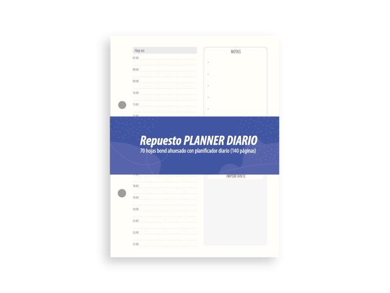 Repuesto hojas Planner Diario