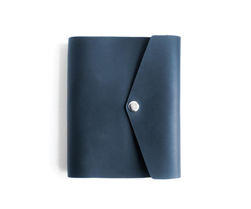 Libreta cuero RollUp Azul Navy
