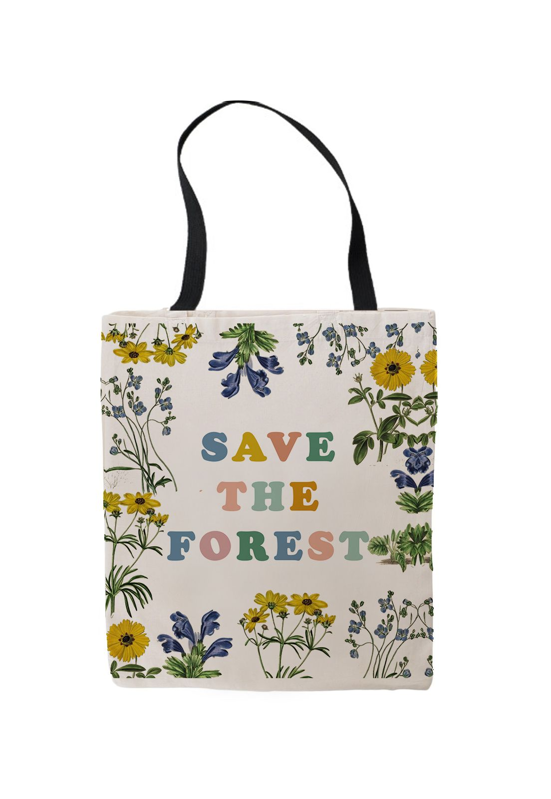 TOTE BAG SAVE THE FOREST