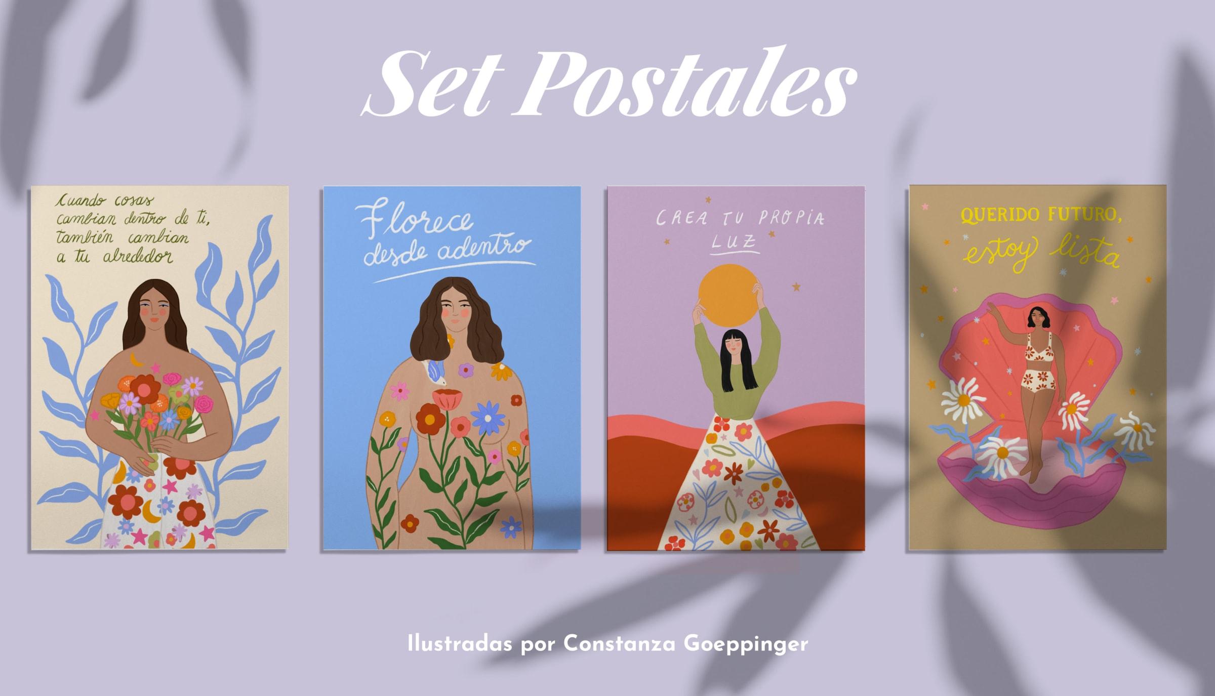 SET 4 POSTALES CONSTANZA GOEPPINGE
