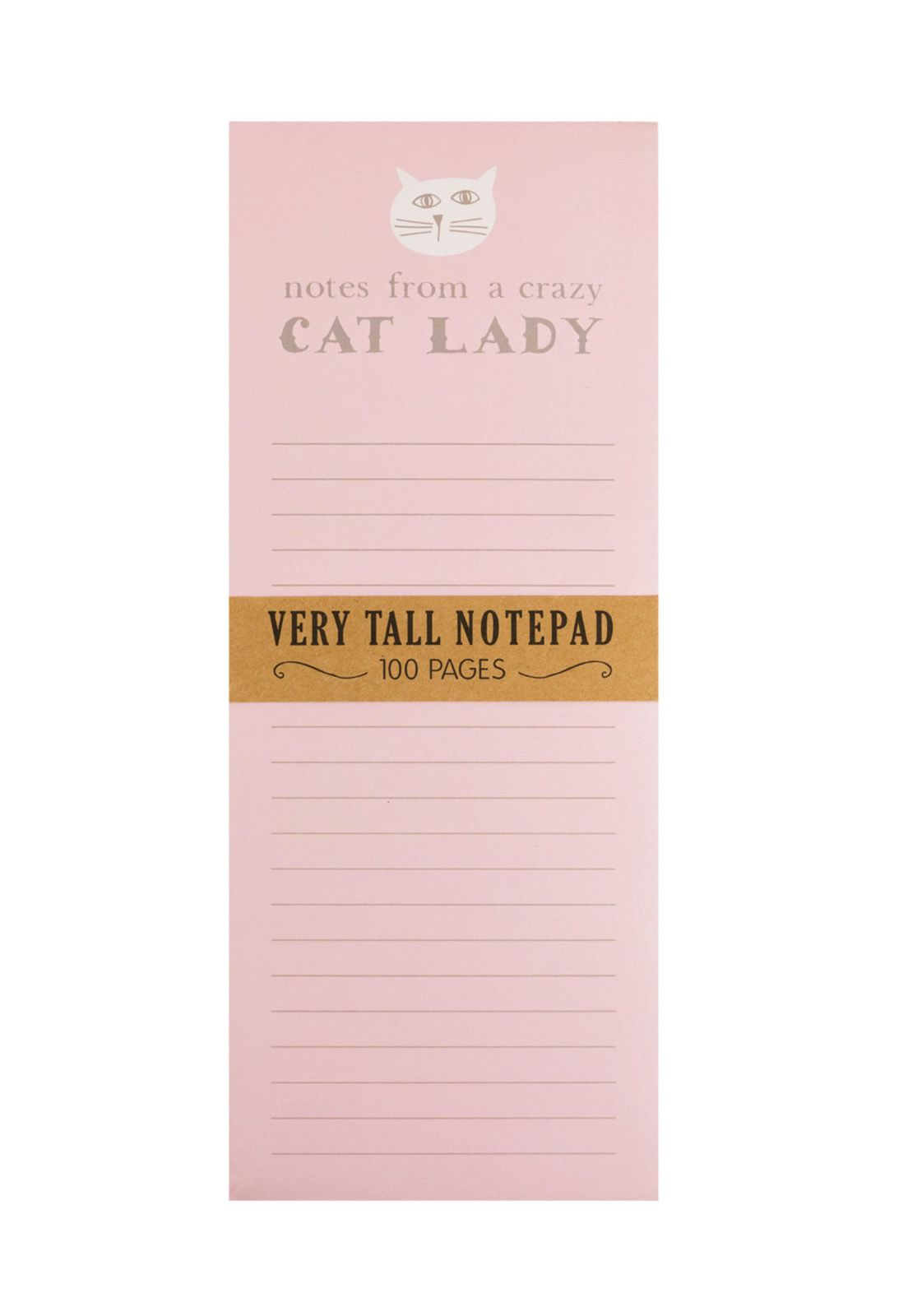 Very Tall Magnet Notepad Crazy Cat Lady 10x25cm