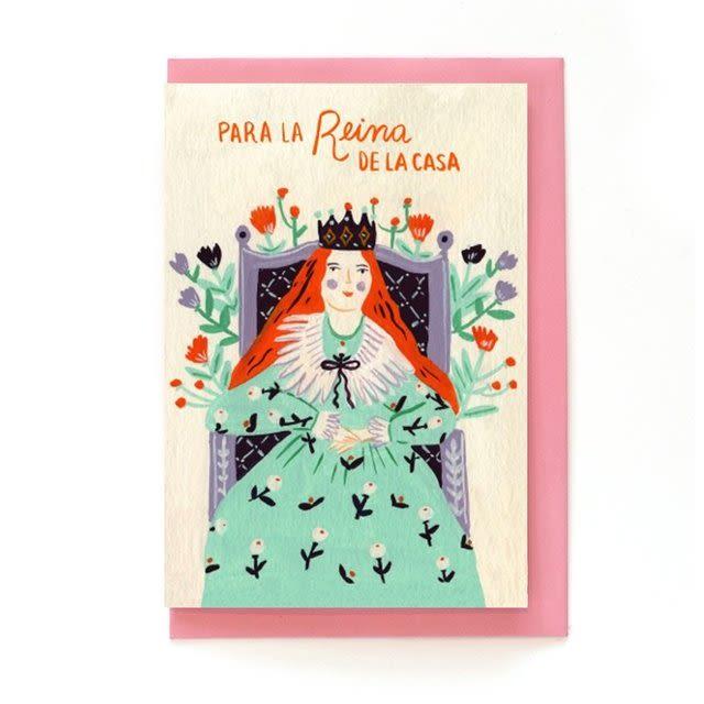 TARJETA REINA DE LA CASA CON SOBRE