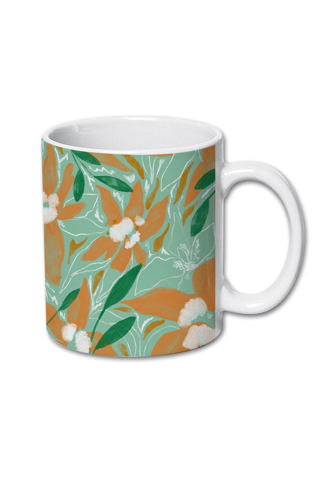 Tazon Floral Paint Turquesa