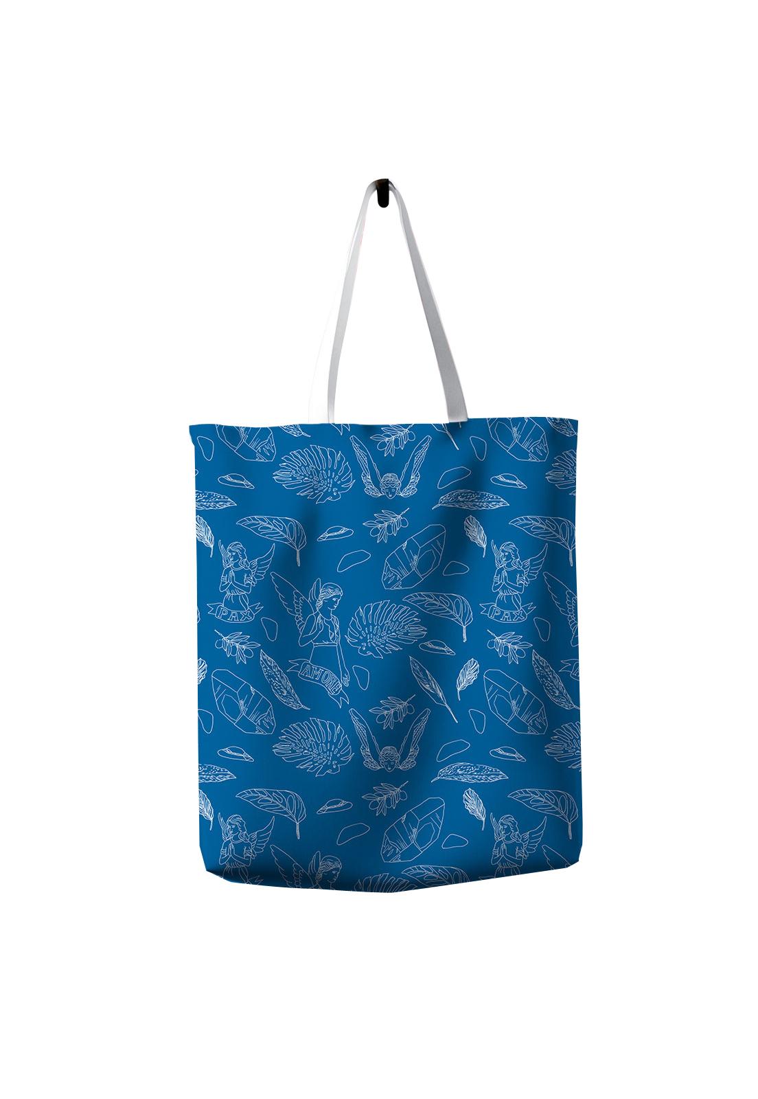 Tote Bag Angelitos blue