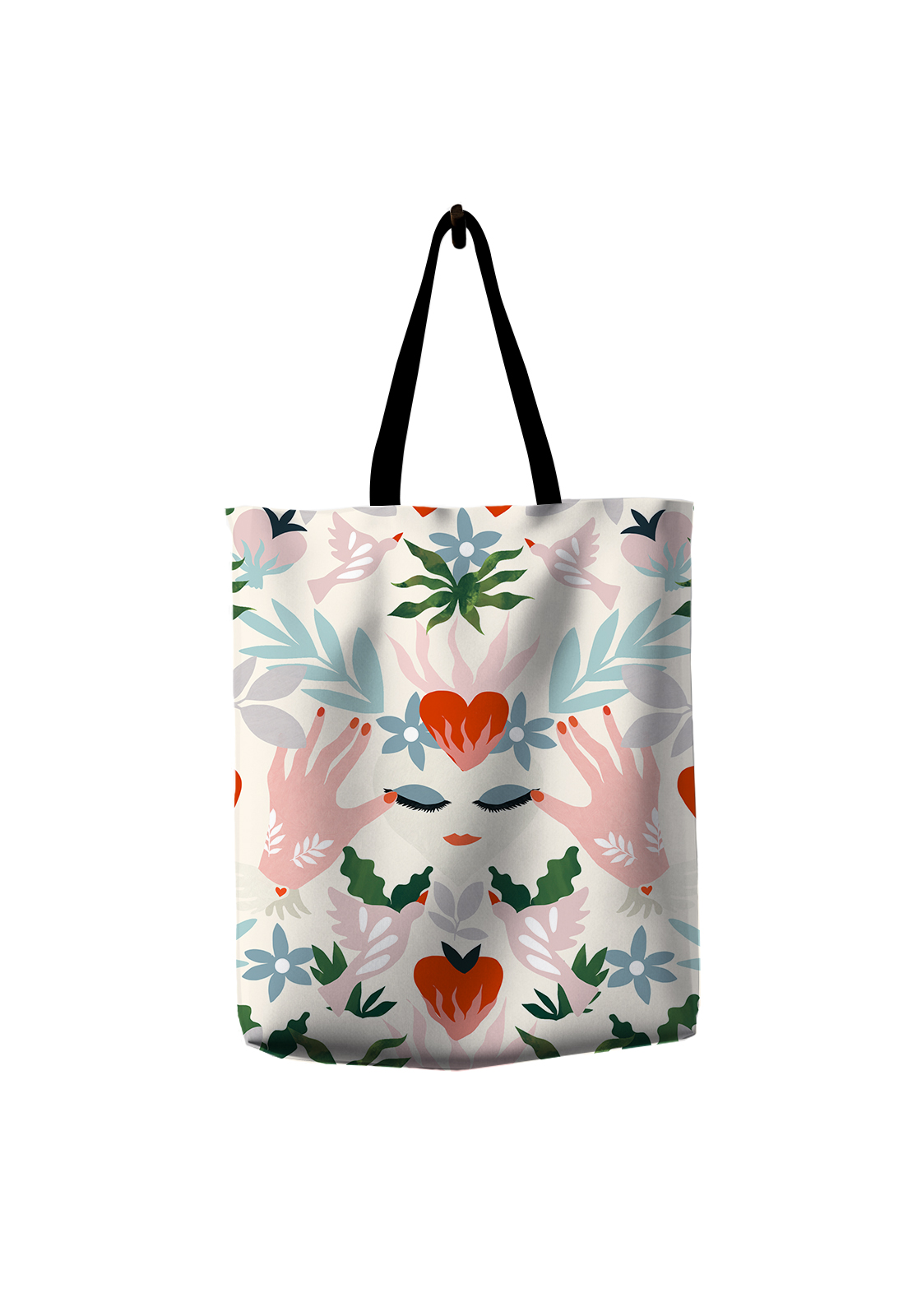 Tote Bag Pattern Heart
