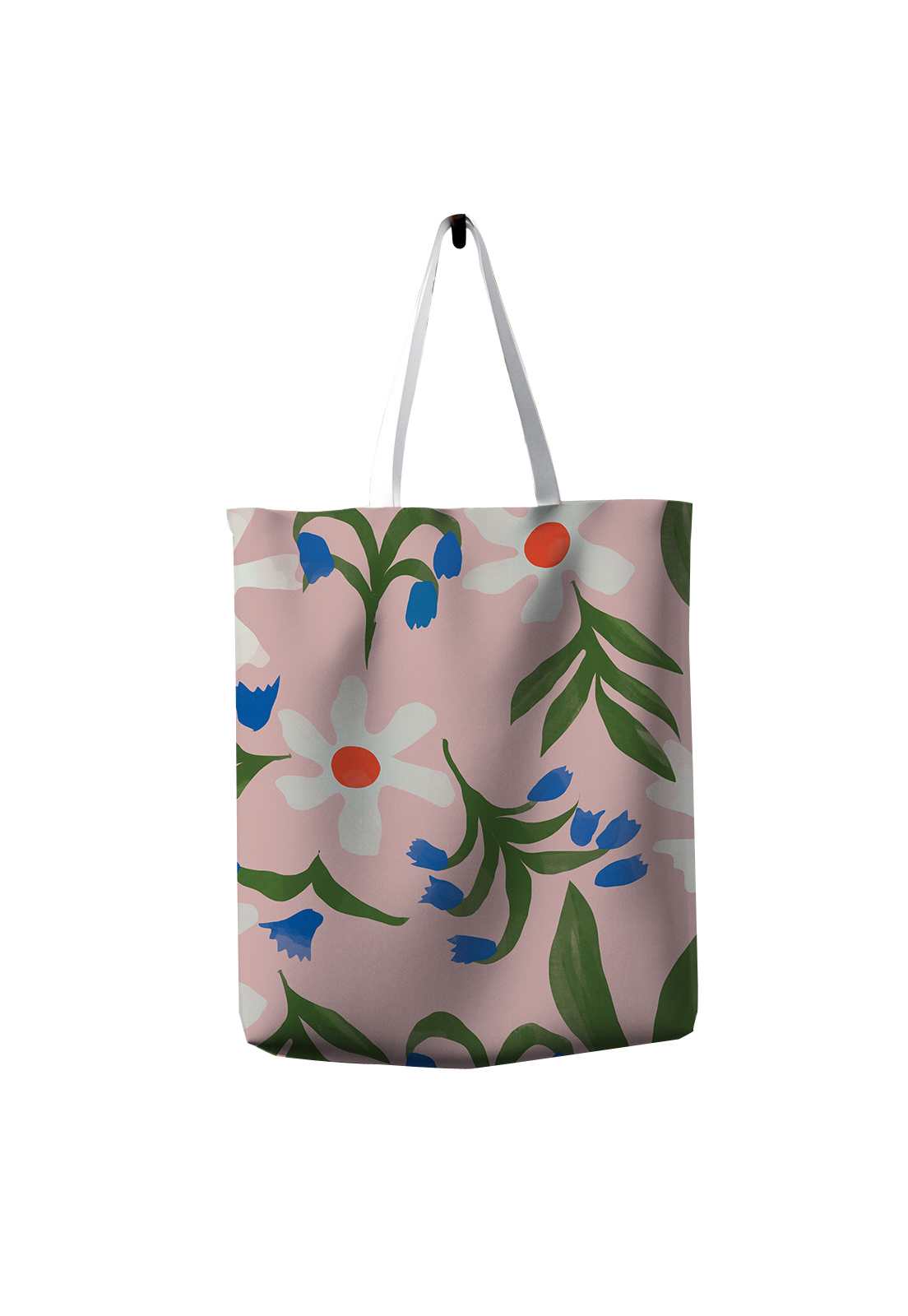 Tote Bag Flores Pink