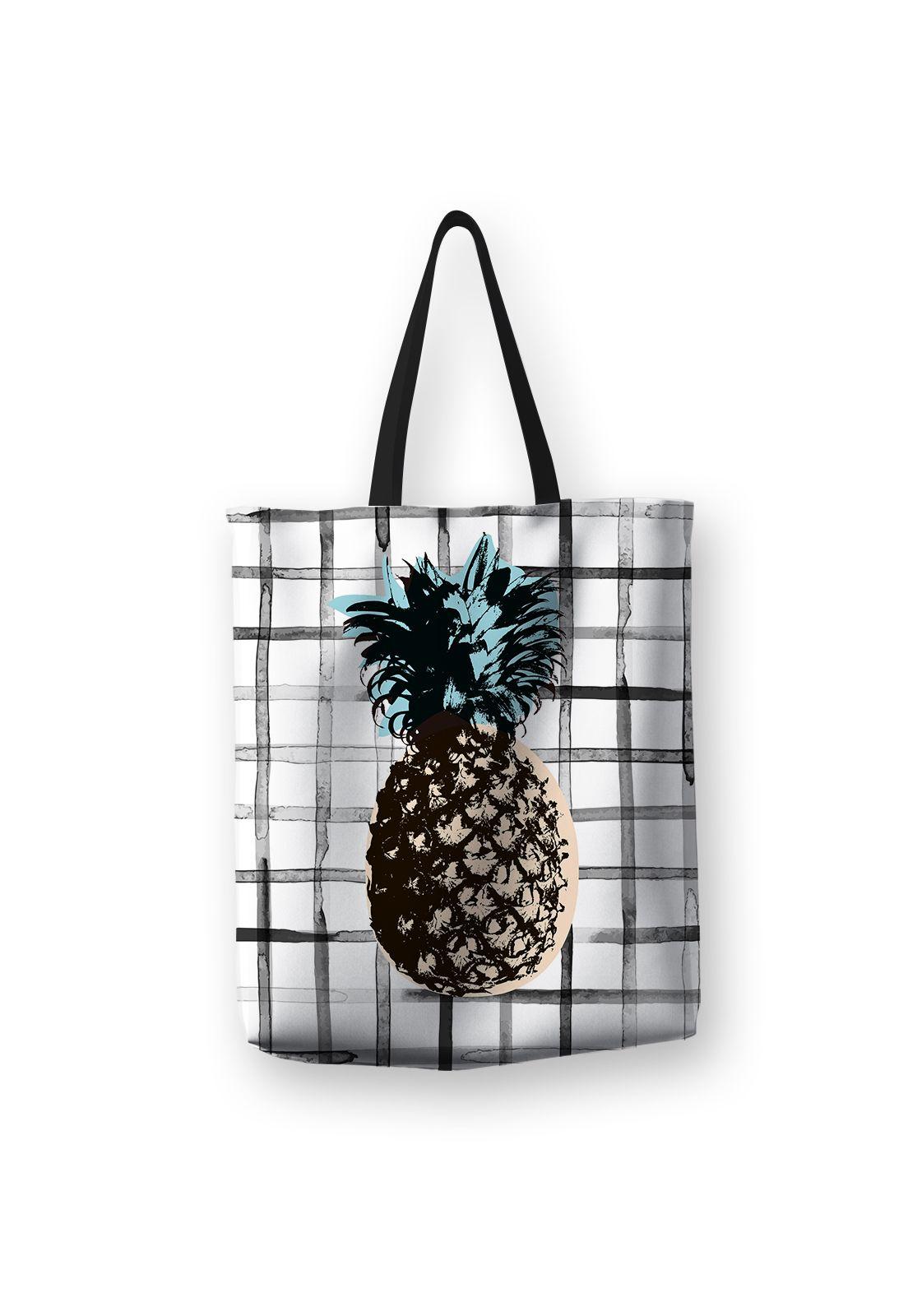 Tote Bag Piña Cuadros