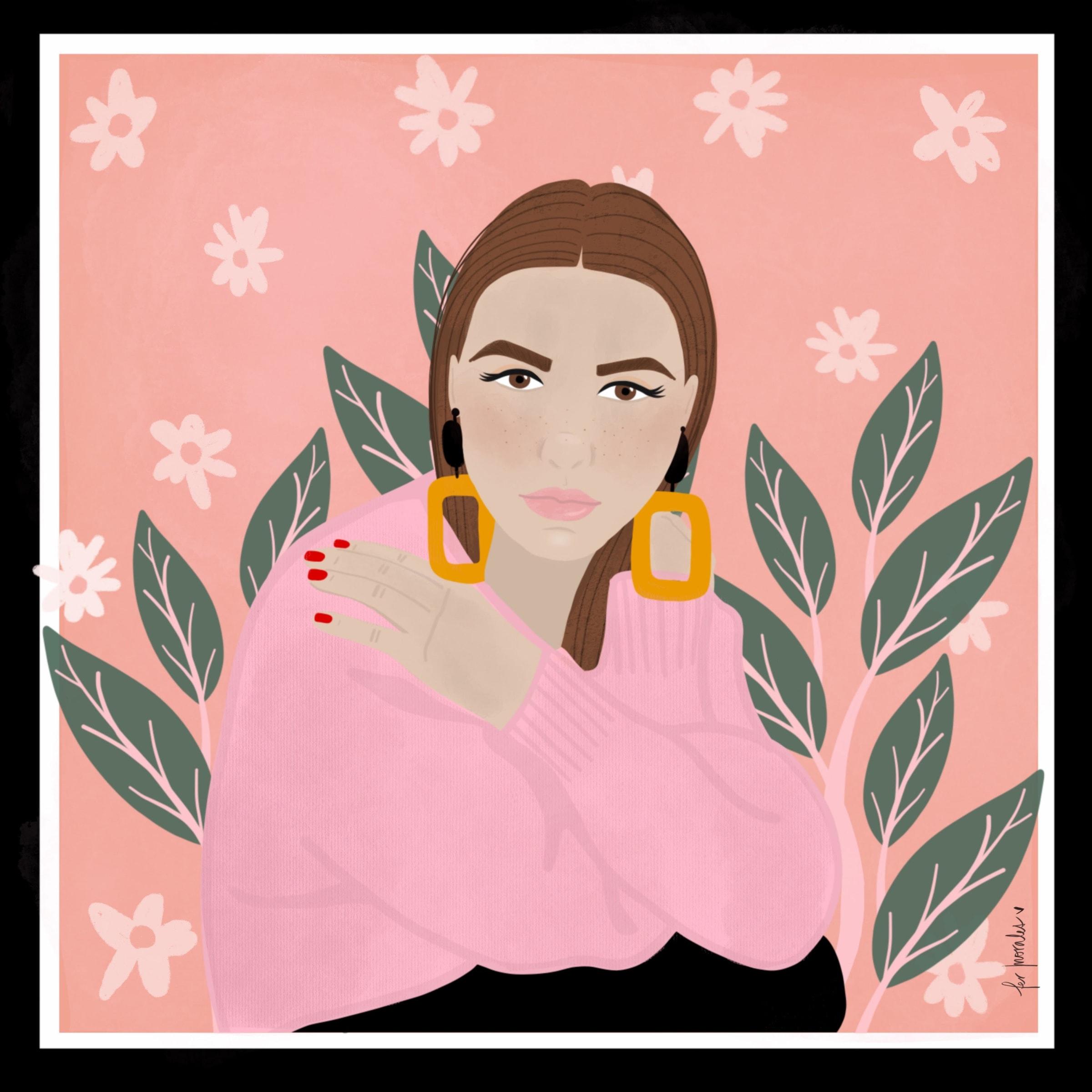 Pañuelo ilustración  Fer Morales  N*4