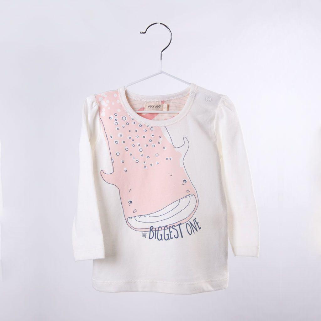 Whale shark tee / pink - VeoVeo
