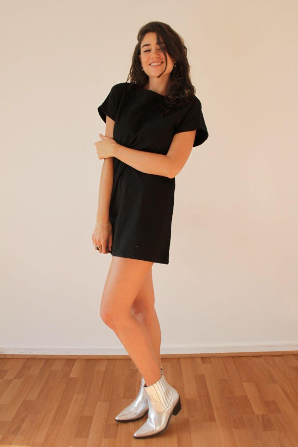Vestido Negro Polera