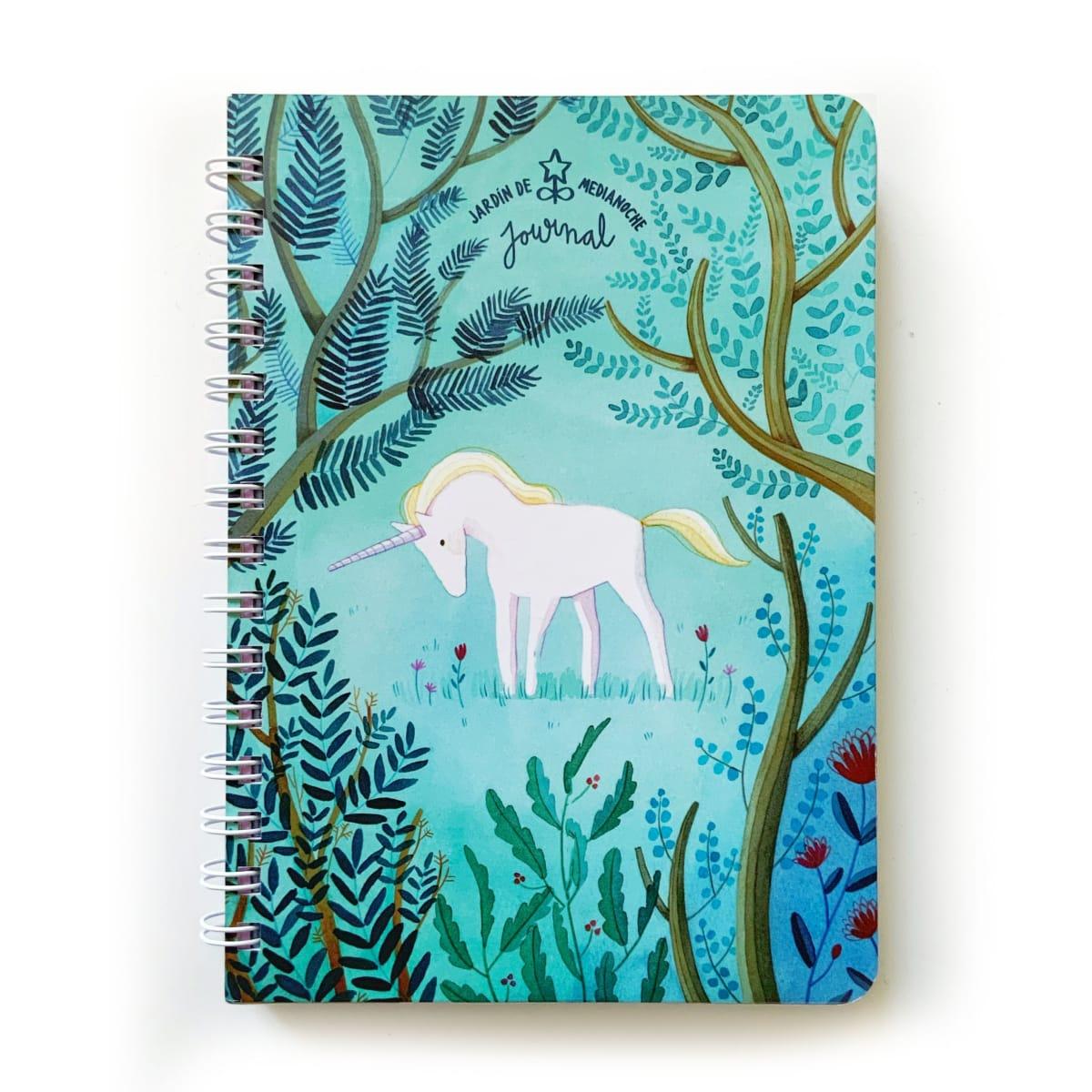 Journal Jardín de Medianoche  Unicornio