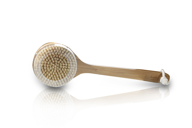 Deluxe Circular Handle 100% Boar Bristle Body Brush, Firm