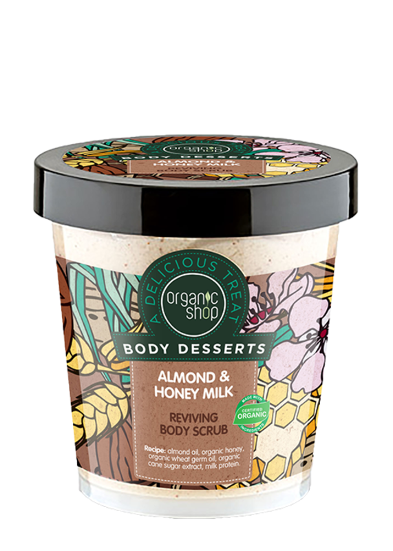 Exfoliante Almond & Honey Milk Reviving Body Scrub 450 ml
