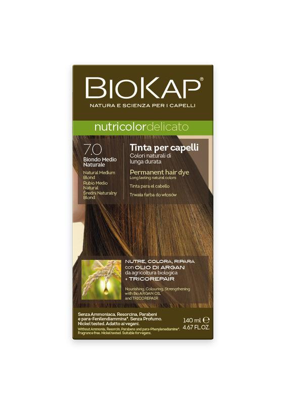 Tintura BIOKAP 7.0 Rubio Medio Natural - 140 ml