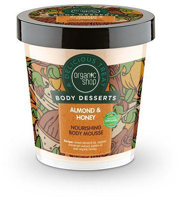Organic Shop Body Dessert Almond & Honey Nourishing Body Mousse, 450ml