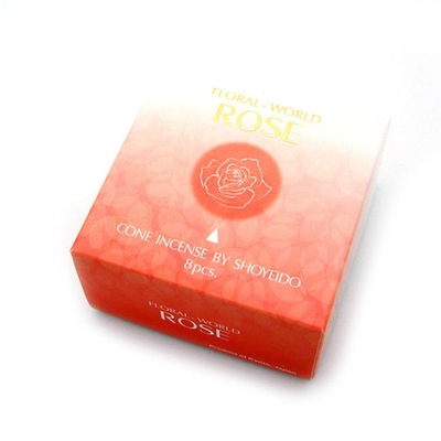 SHOYEIDO ROSE 8 CONES W/HOLDER