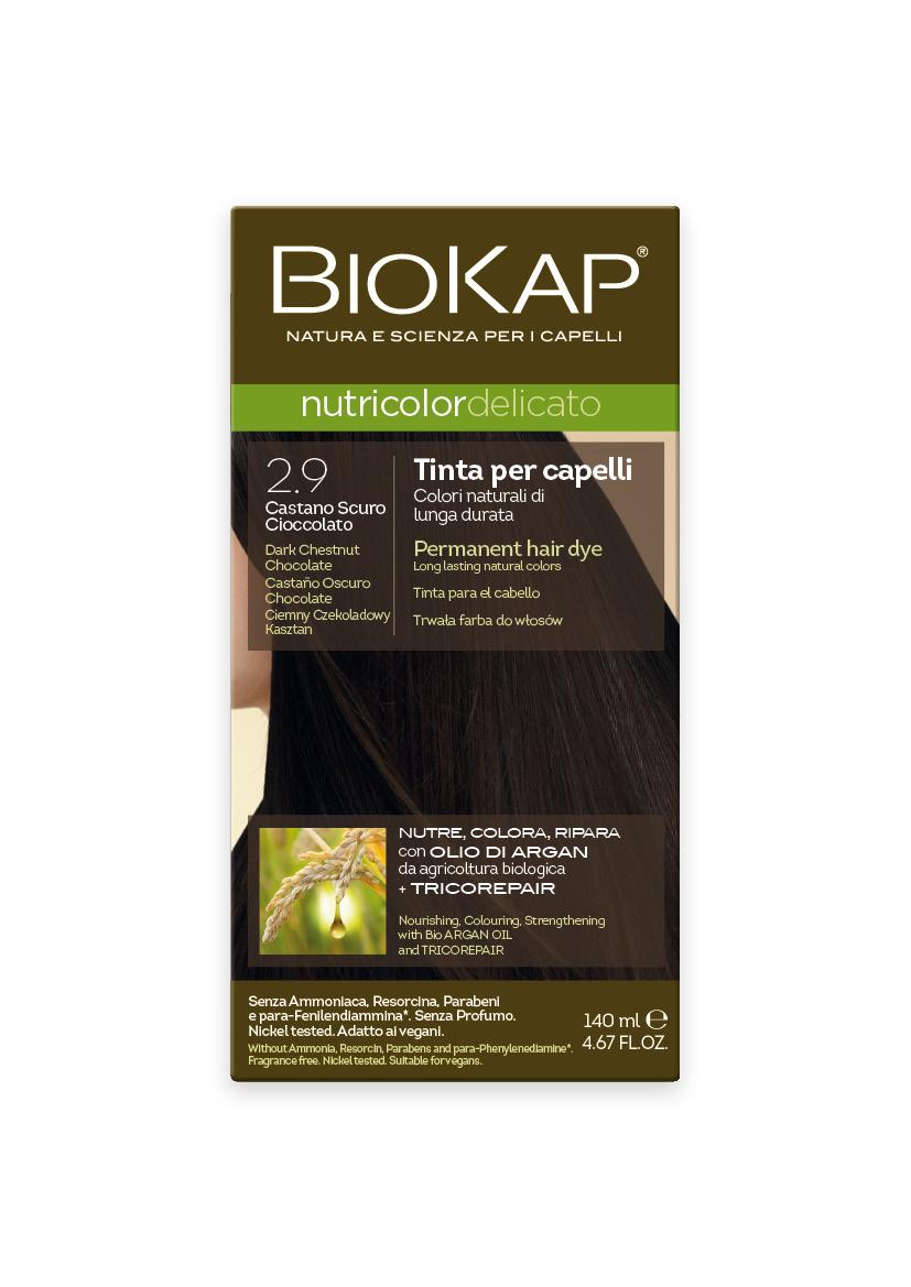 Tintura BIOKAP 2.9  Castaño Oscuro Chocolate - 140 ml