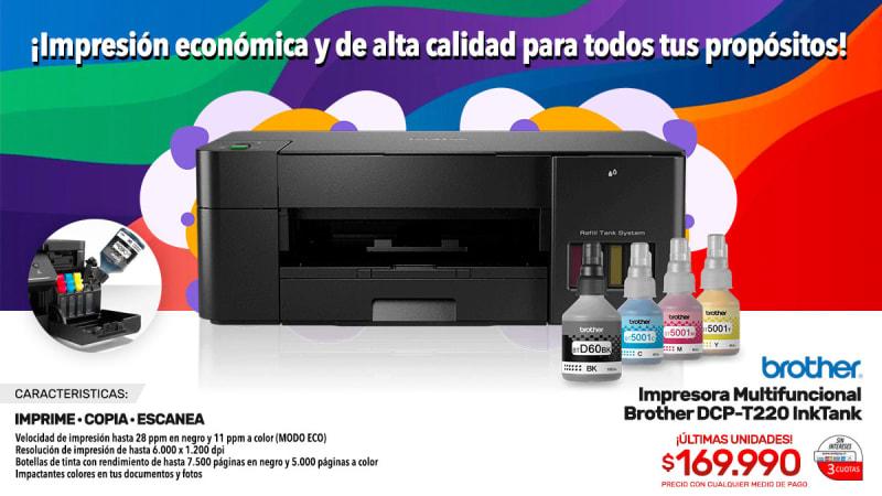 impresora multifuncional brother dcp t220 inktank