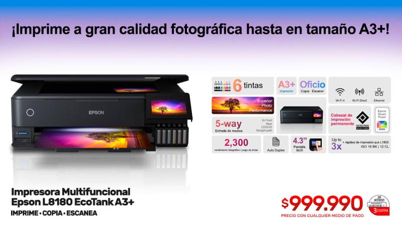 impresora multifuncional epson l8180 ecotank a3
