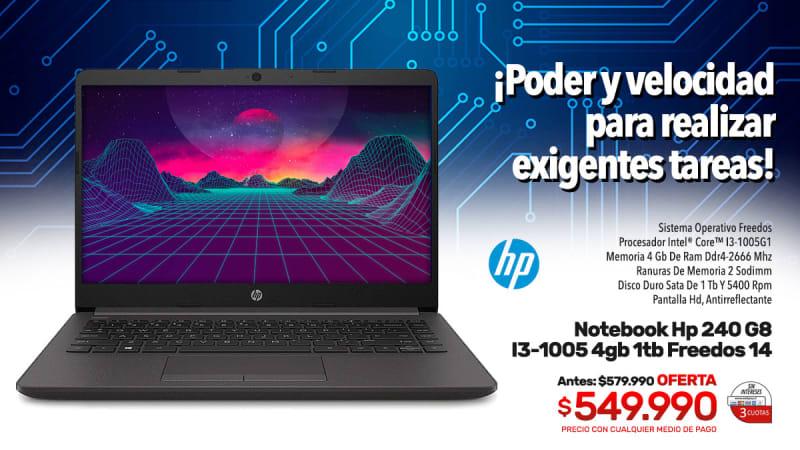 notebook hp 240 g8 i3 1005 4gb 1tb freedos 14