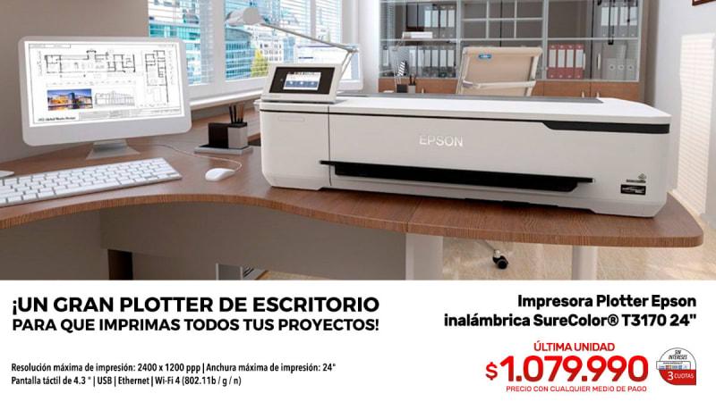 impresora epson inalambrica surecolor t3170 24