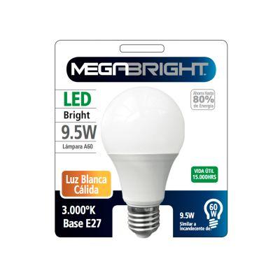 Ampolleta Led Megabright 9.5W Certificada - Luz cálida y fría