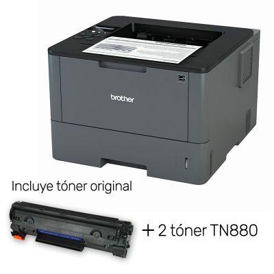 Pack Impresora láser Brother HL-L5100DN con tóner original + 2 tóner altern. TN880