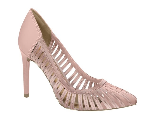 T2663 0005 ZAP STILETTO OPEN  CUERO & SATIN  Color PEACH (Durazno)