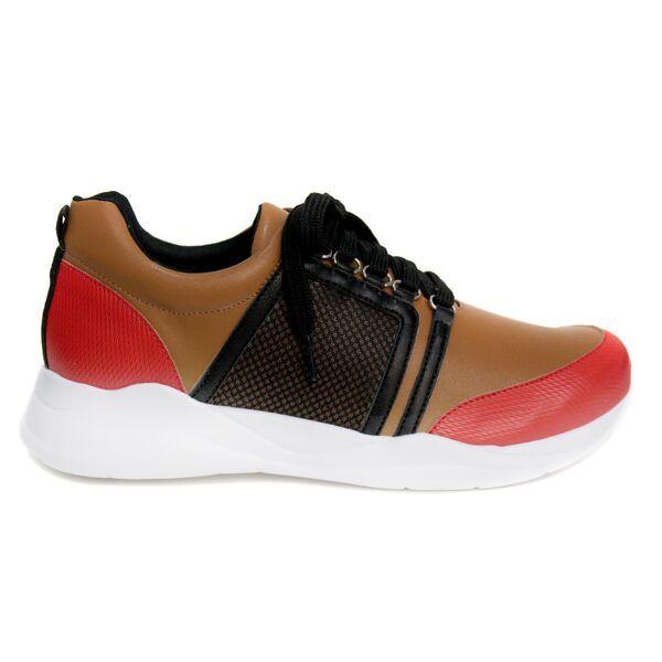 zapatilla fashion golf carmin chocolate 06006 0003