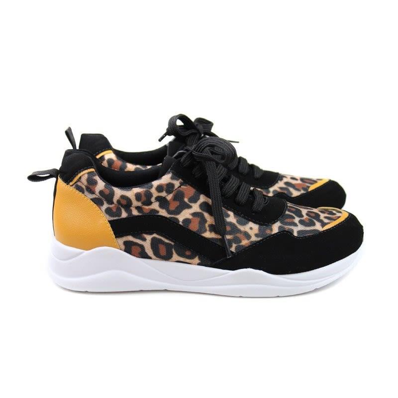 zapatilla fashion negra leopardo 196701 0008
