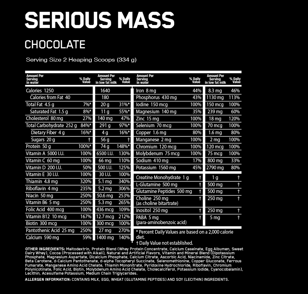 Serious Mass 12 Lbs - GO NUTRITION