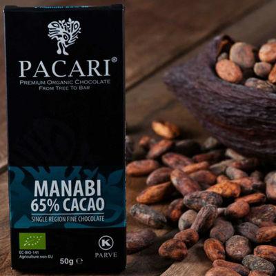 Chocolate Organico Manabi 65% Cacao 50 Gramos