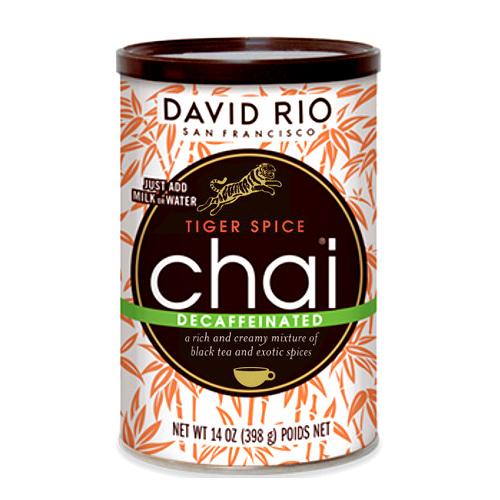 Tiger Spice Chai Descafeinado David Rio 398 grs