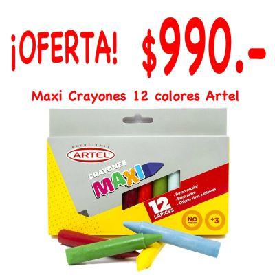 Lápices cera Maxi 12 colores Artel