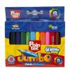 Lápices 12 colores Jumbo Cortos Pointer
