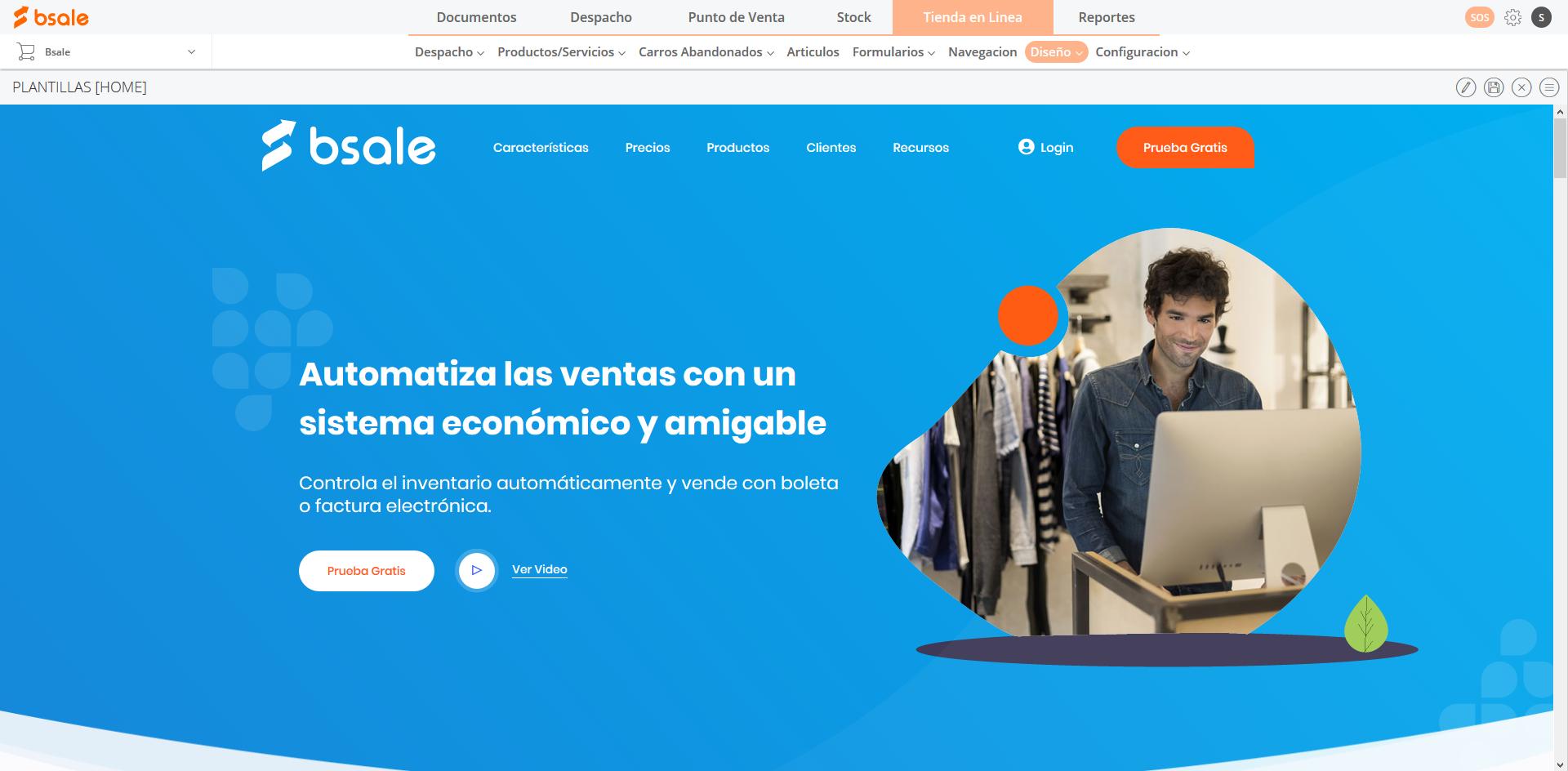 Web de Bsale con Ecommerce