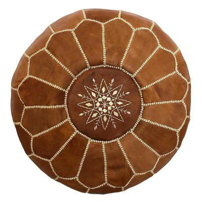 Pouf marroquí color camel1