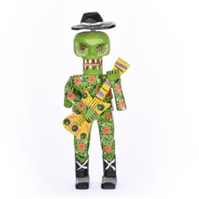 Calavera con sombrero Verde1