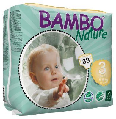 Pañales Ecológicos Bambo Midi 3